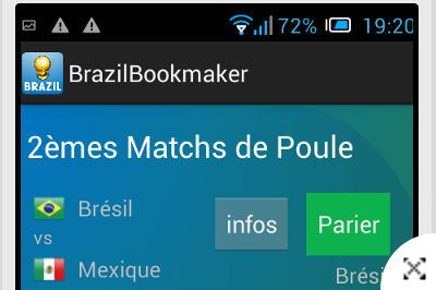 Application Android Brazil Bookmaker